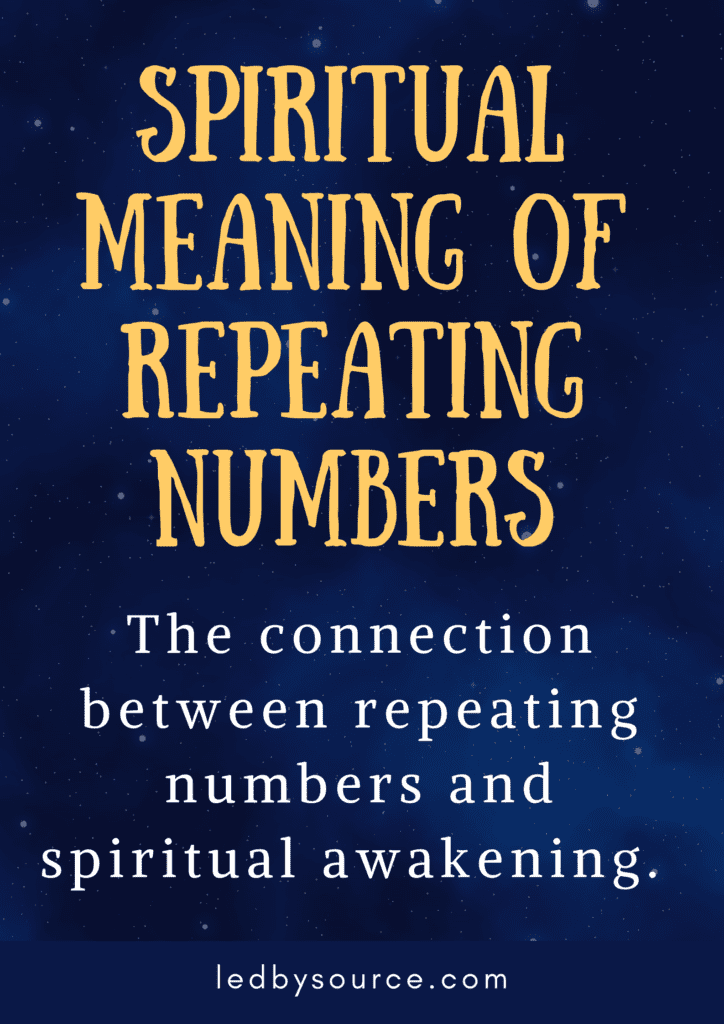 spiritual meaning of repeating numbers