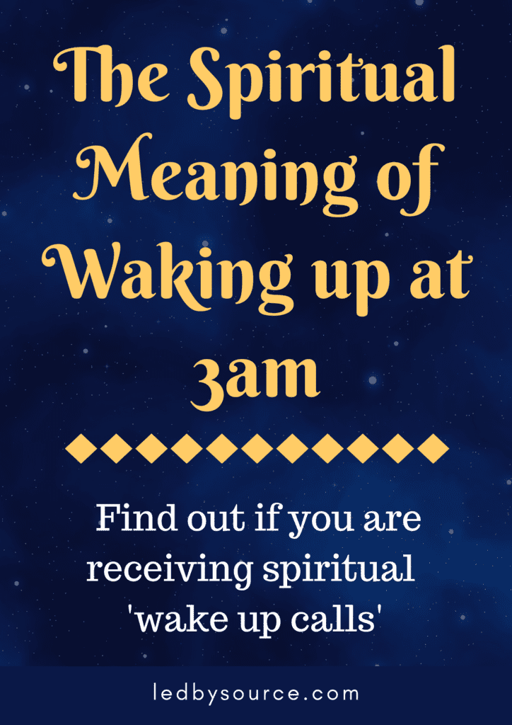 Spiritual Meaning of Waking up at 3am