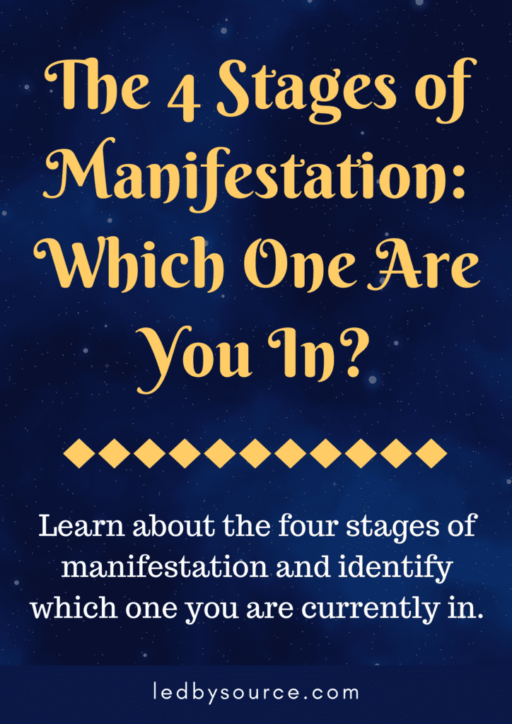 4 stages of manifestation